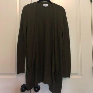 🍂Old Navy Olive Green Cardigan Size Medium